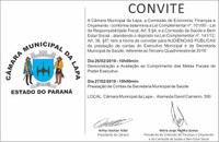 Audiências Públicas de prestação de contas do município