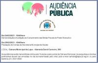 Audiências Públicas de prestação de contas