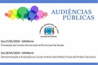 Câmara irá transmitir as audiências públicas pela internet