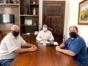 Presidente da Câmara Gustavo Daou visita prefeito Diego Ribas